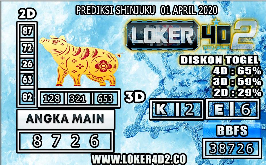 PREDIKSI TOGEL SHINJUKU LUCKY 7 LOKER4D2  01 APRIL 2020 2020