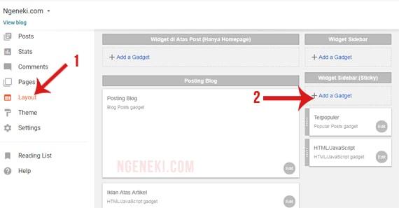 menambahkan widget pengikut di tata letak
