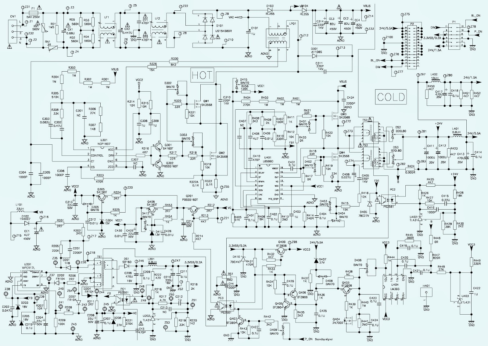 Tv Power Schematic Auto Electrical Wiring Diagram Crt Electronic Repair No High Voltage Toshiba 20as24 40 Led Get Free Image About