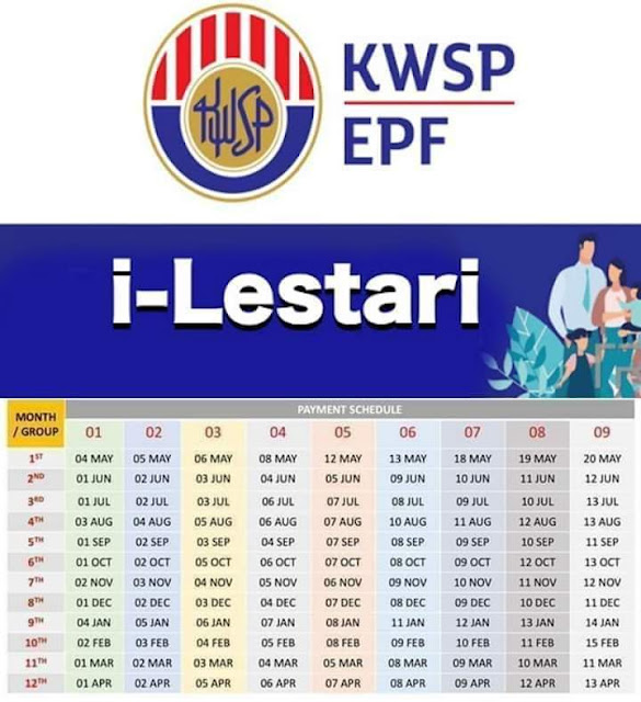 Tarikh Bayaran i-Lestari KWSP Bagi Bulan September 2020 (Jadual)