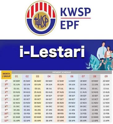 Tarikh Bayaran i-Lestari KWSP Bulan November 2020 (Jadual)