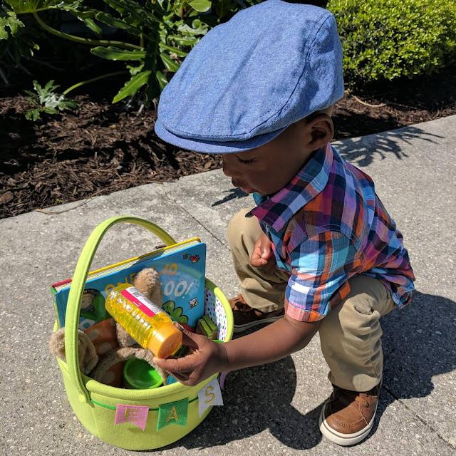 toddler with Easter egg basket for Best Easter egg Celebration