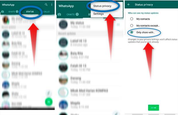 Cara Membuat Status WhatsApp Hanya Bisa Dilihat Oleh Teman Dekat