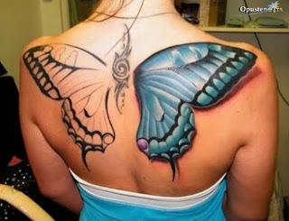 Tattoos De Mariposas 3d En Espalda Tatuaje Original Fotos De