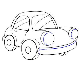 رسمة سيارة سهلة للاطفال (17)