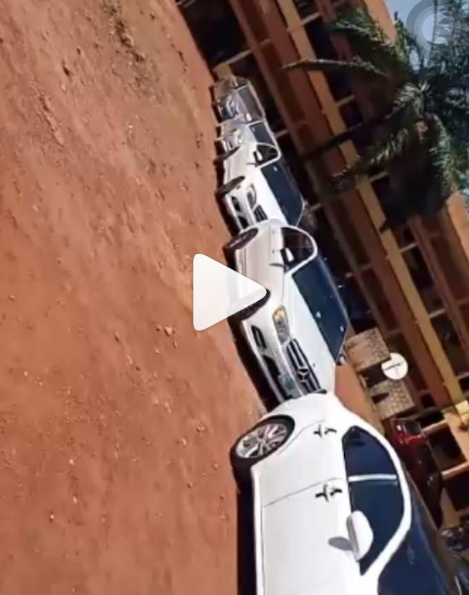 Drama as ESUT students storm school in convoy, block VC's parking space (Watch video)