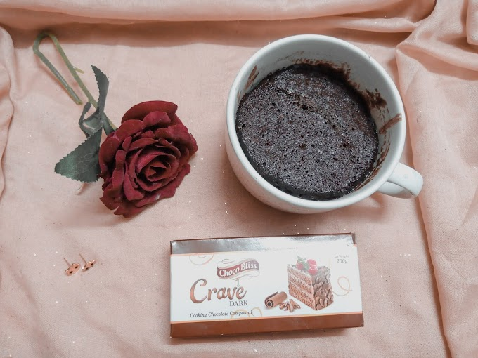From thought to table, 5 min taking moist mug cake recipe!