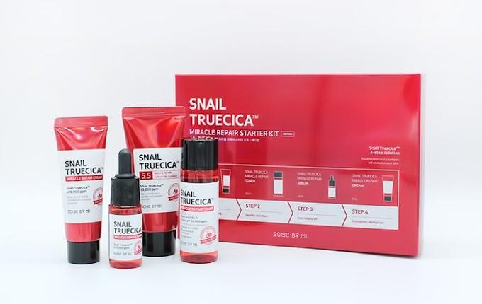 Varian produk SOME BY MI Snail Truecica Miracle Repair untuk memperbaiki masalah kulit
