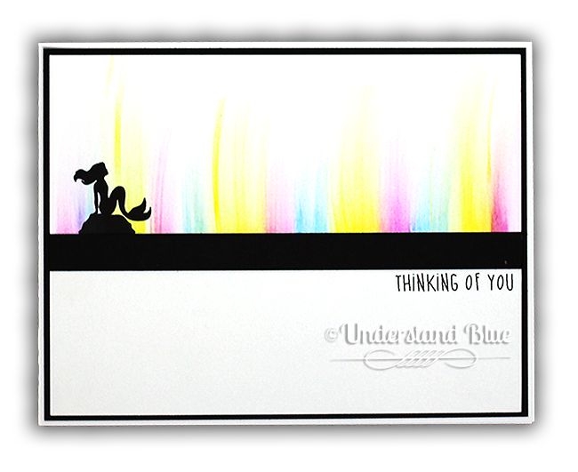 Mermaid Northern Lights card by Understand Blue