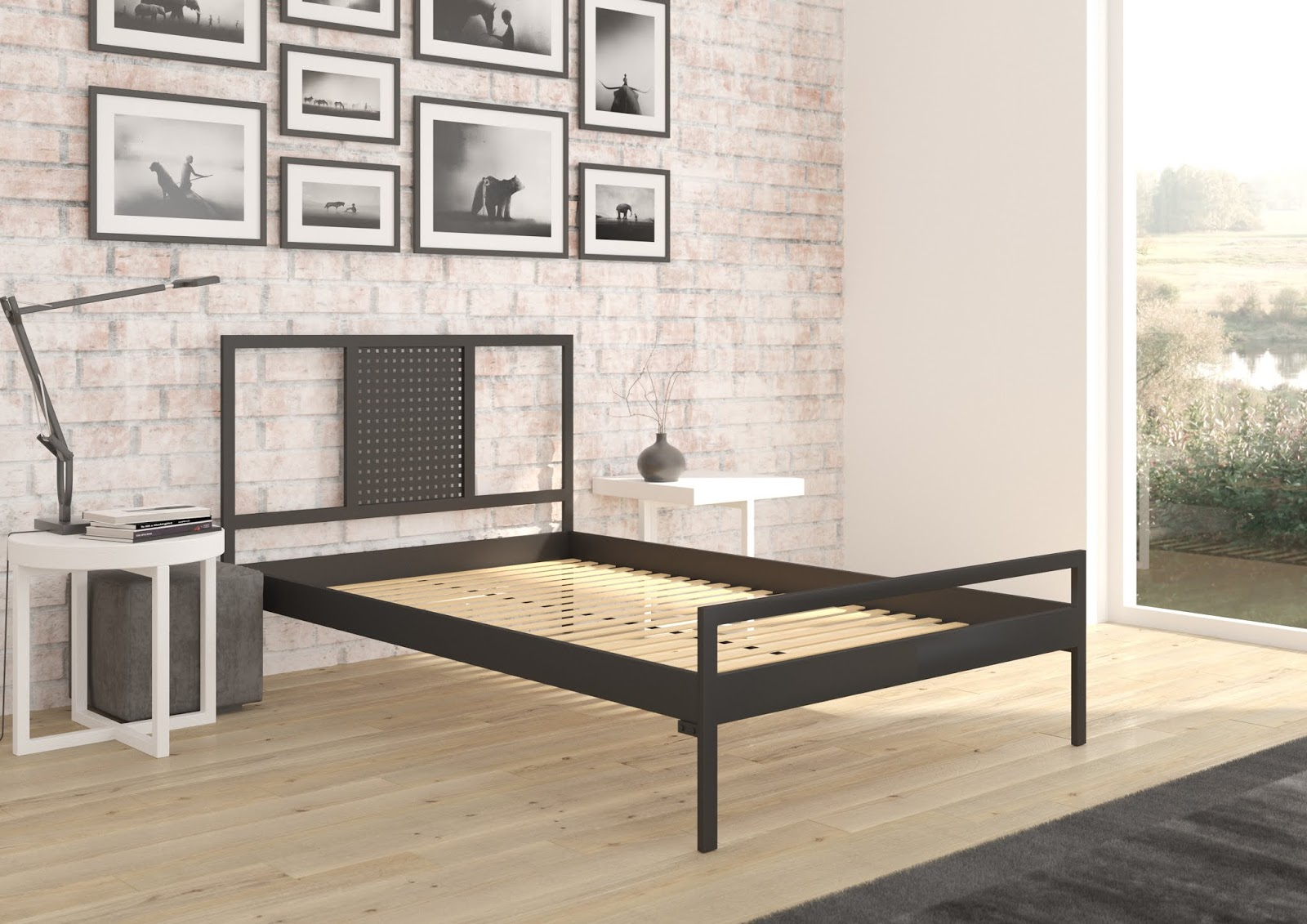 Łóżko metalowe wzór 41