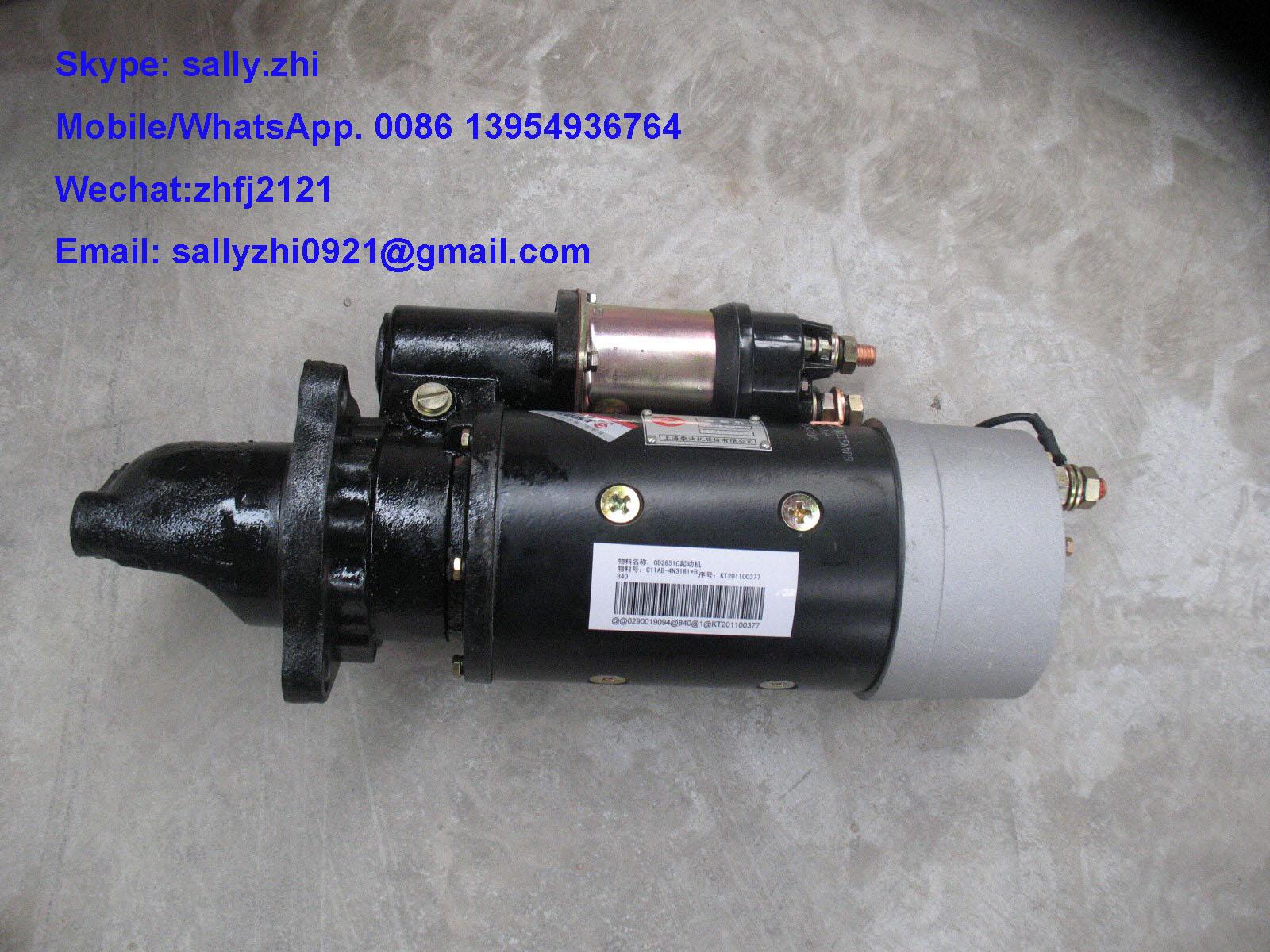 original SDLG starter, C11AB-4N3181+B, shangchai engine spare parts ...