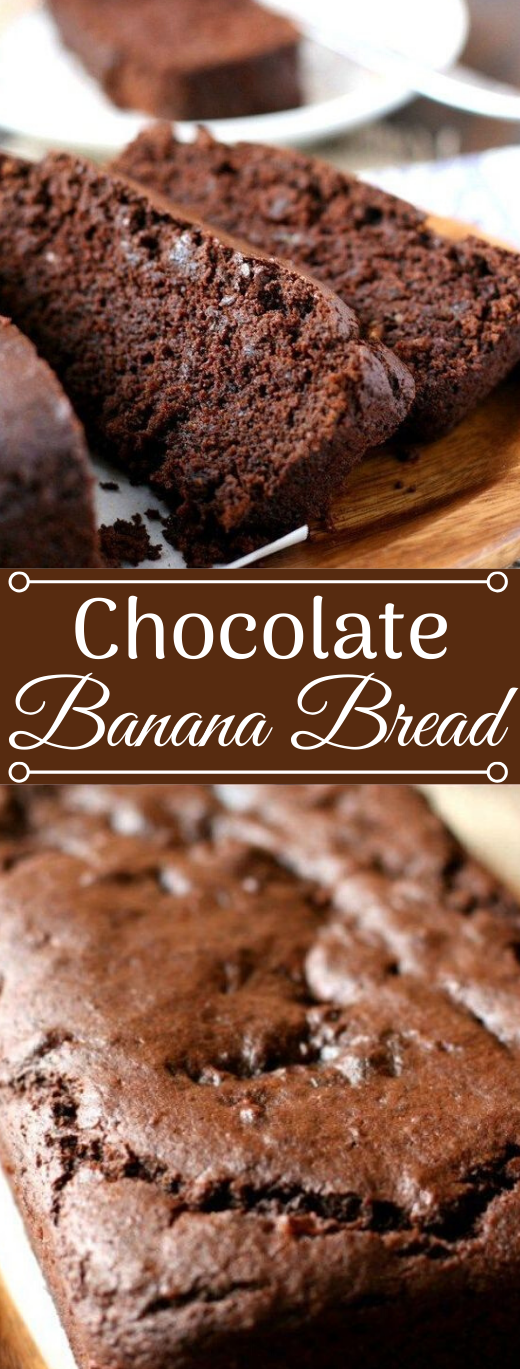 Chocolate Banana Bread #chocolate #banana #desserts #pumpkin #easy