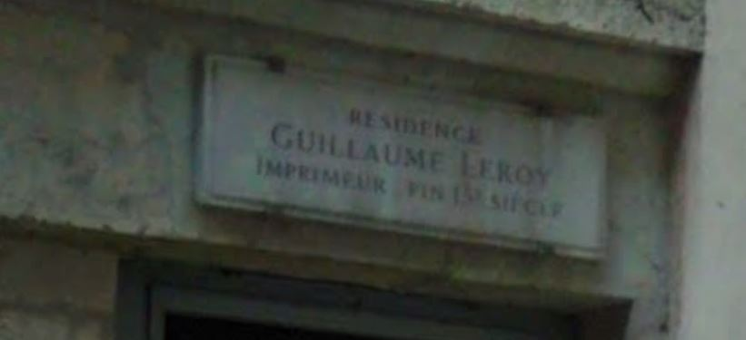 résidence Guillaume LEROY, imprimeur du XIIIe siècle