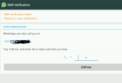 WhatsApp verification code