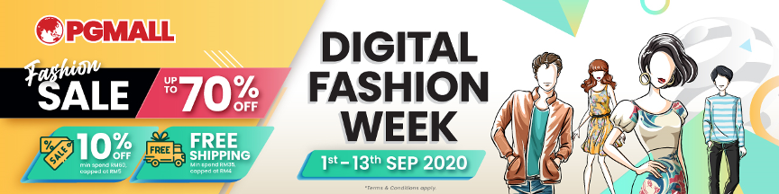 Digital Fashion Week, PG Mall, e-commerce platform, 9.9 campaign, discounts, sales, free shipping, Rawlins Shops, Rawlins GLAM, Rawlins Lifestyle