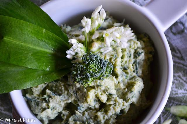 Crème aux brocolis et à l'ail des ours  © Popote et Nature