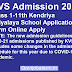 KVS ONLINE ADMISSION FORM START UPDATE