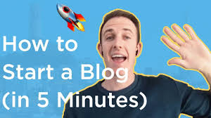 man pointing about blogging