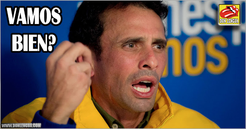 Henrique Capriles Radonski le lanza sus dardos políticos a Guaidó y la oposición