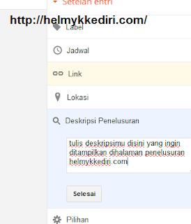 Mengatasi tidak ada deskripsi blog diPenelusuran