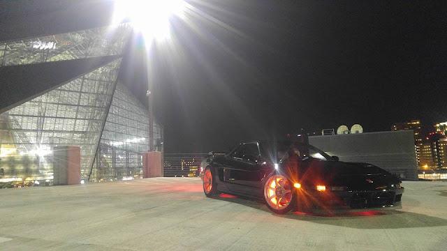Black Top Racing NSX with wheel lights