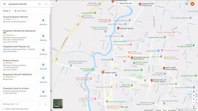 lokasi tidak muncul di peta google maps