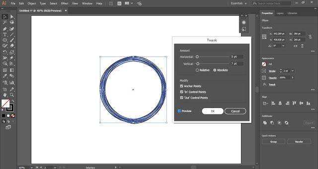 Scribble Circular Logo in Adobe Illustrator