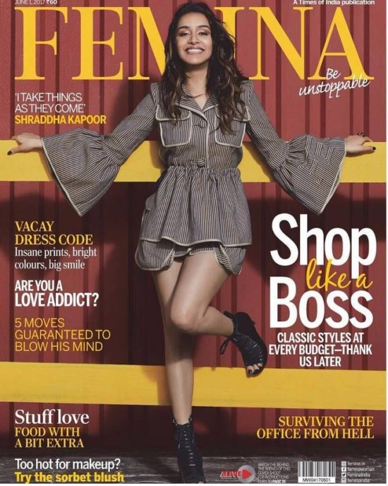 Shraddha Kapoor On The Cover of Femina Magazine June 2017