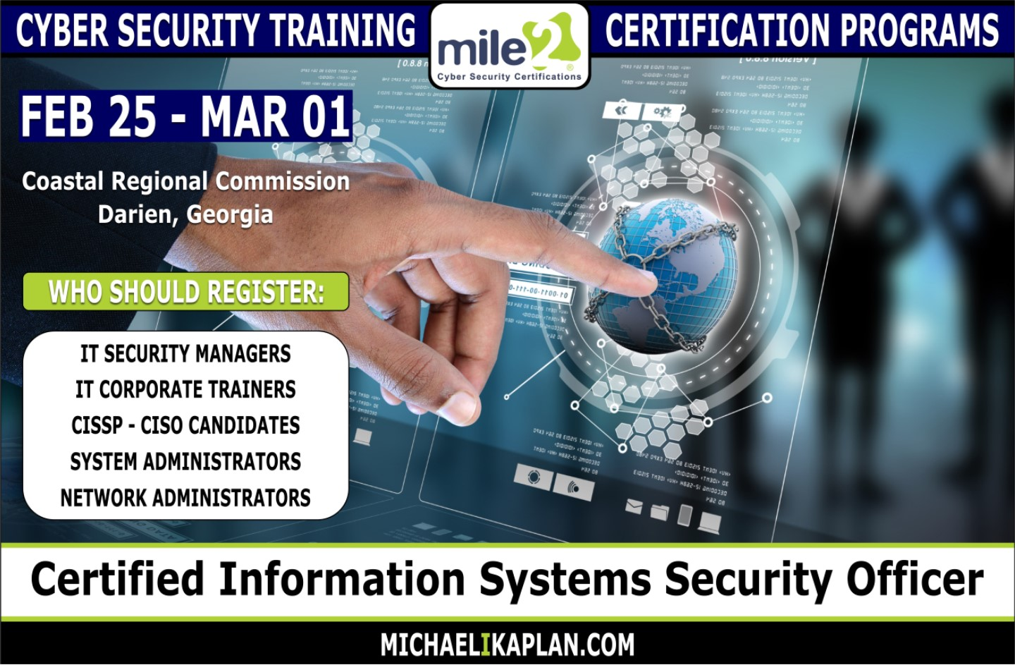 Michael I Kaplan Certified Information Systems Security Officer