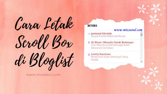 Cara Letak Scroll Box di Bloglist