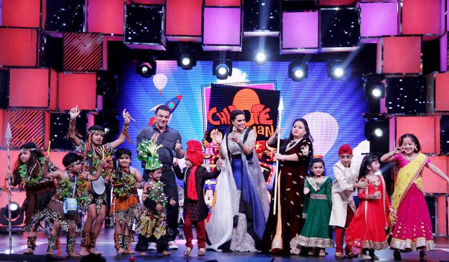 Neha Dhupia and Sohail Khan on the Grand Finale of Colors Chhote Miyan Dhaakad