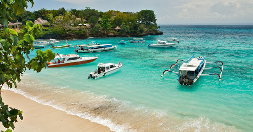 Tourist Attraction in Nusa Lembongan Island Bali Indonesia