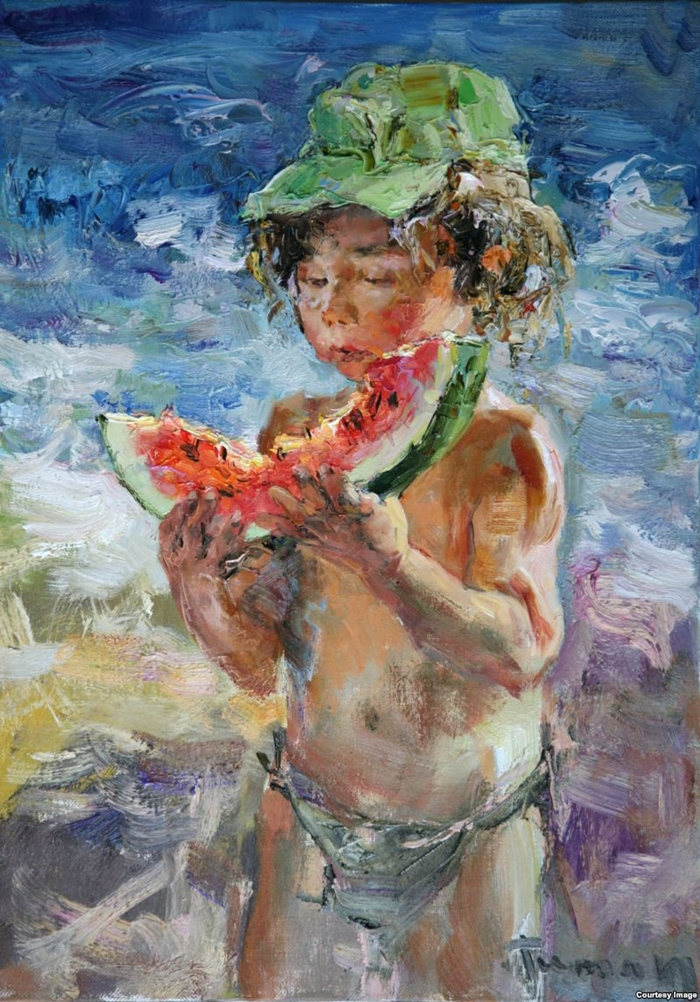 Туман Жумабаев 1962 | Russian Impressionist painter
