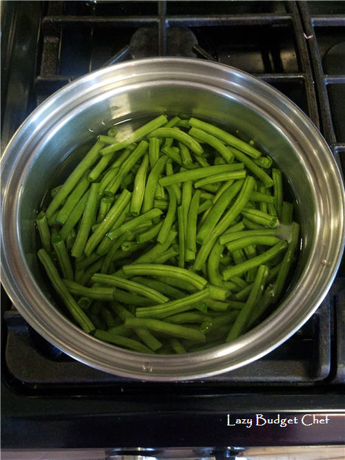 how to par boil green beans