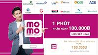 Kiếm 100K trong 5 phút với ví momo mới nhất Tháng 4/2018