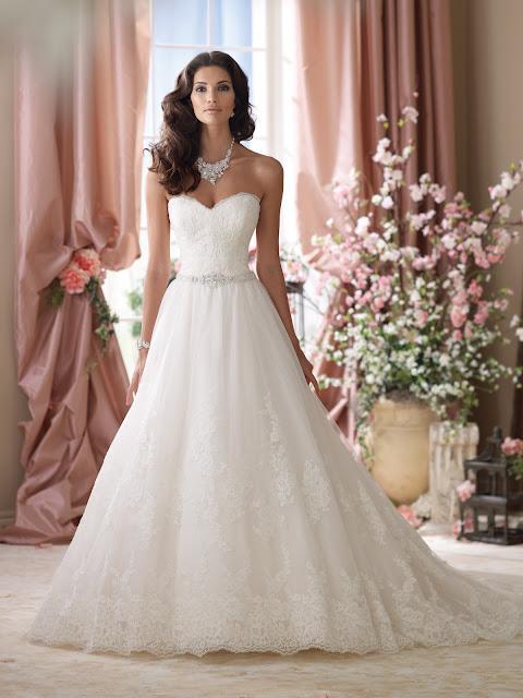 Brautkleid Spitze und Tüll, Spitzenbrautkleid Prinzessin, Brautkleider Spitze und Tüll
