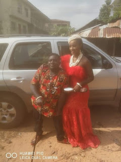 Pretty Lady Weds Physically Challenged Man In A Wheelchair In Abia (Photos)
