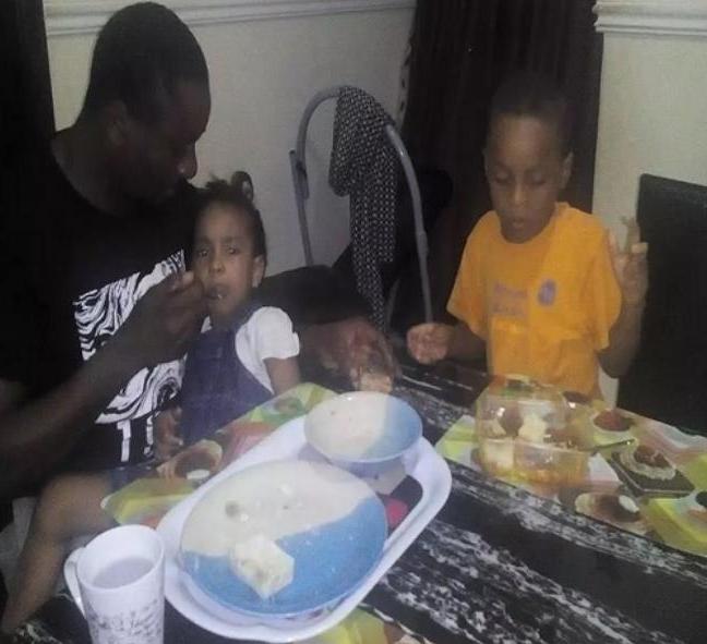emeka ike feeding kids