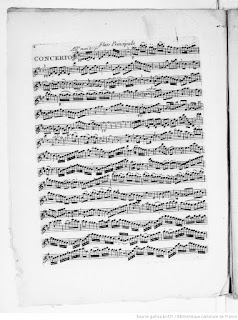 Partichela de flauta del Concierto para Flauta núm. 2 en Re mayor de Amand Vanderhagen (1753-1822).