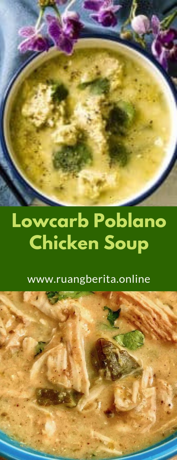 Lowcarb Poblano Chicken Soup