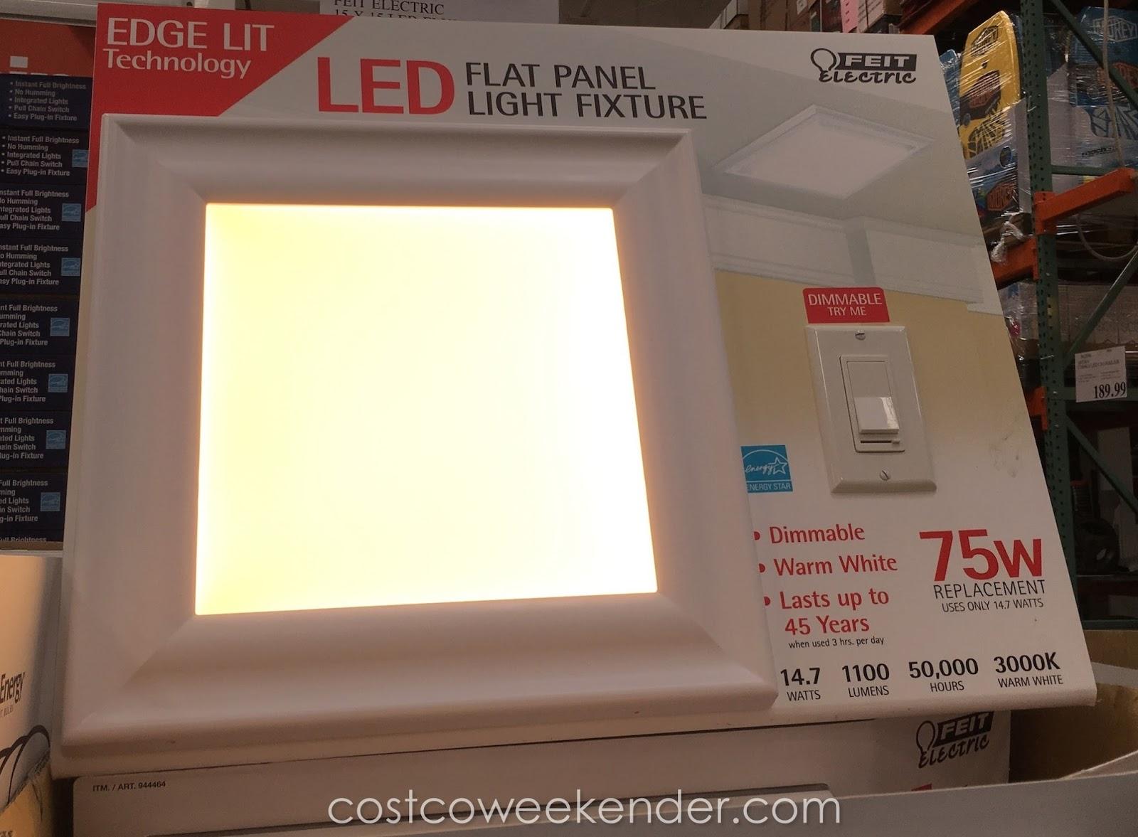 "Feit LED Flat Panel Light Fixture (15"" x 15"") | Costco ..."