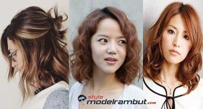 Model Rambut Pendek dan Bergelombang Wanita Korea