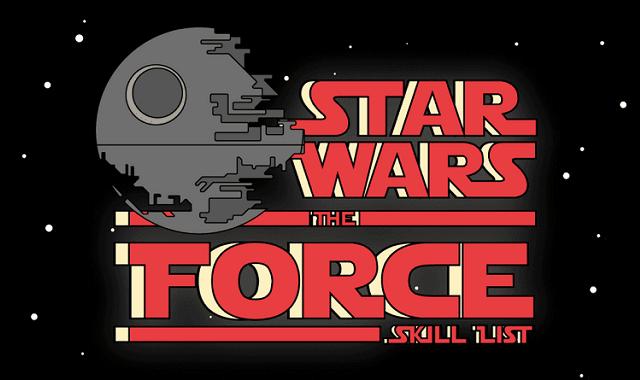 Star Wars: The Force Skill List