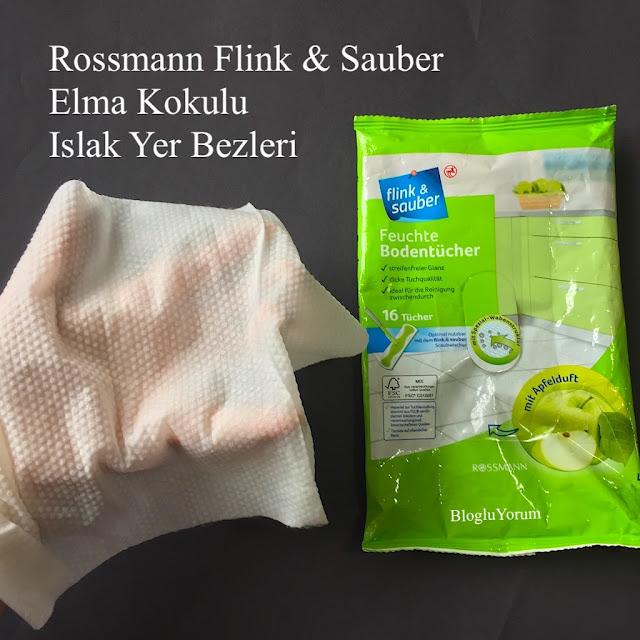 rossmann flink sauber elma kokulu ıslak yer bezleri