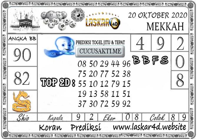 Prediksi Togel MEKKAH LASKAR4D 20 OKTOBER 2020