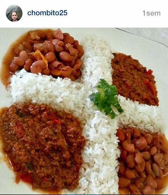 real bandera dominicana en plato de comida imágenes dominicanas