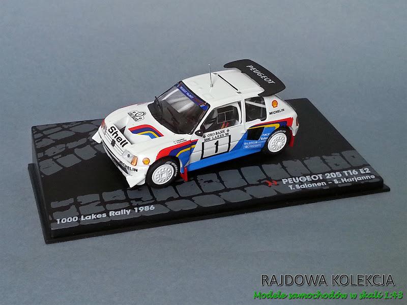 IXO Altaya Peugeot 205 T16 E2 1000 lakes rally