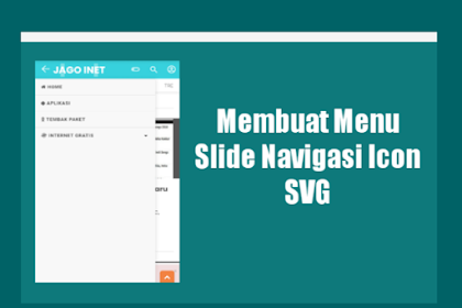 Cara Membuat Slide Menu Navigasi Icon SVG