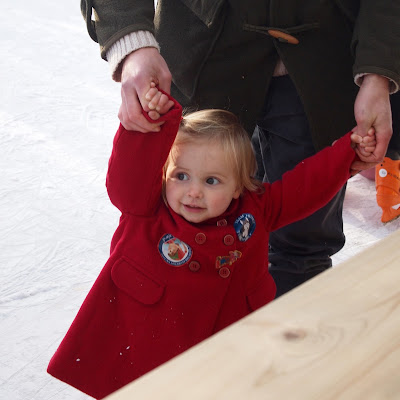 Lapland UK Review - Ice Skating with daddy
