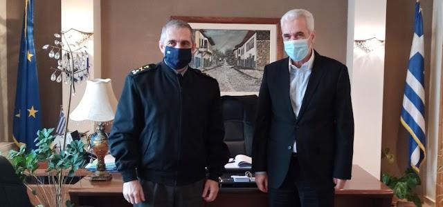 Σουφλί: Επίσκεψη νέου Διοικητή Δ'ΣΣ Αντγου Άγγελου Χουδελούδη στον δήμαρχο